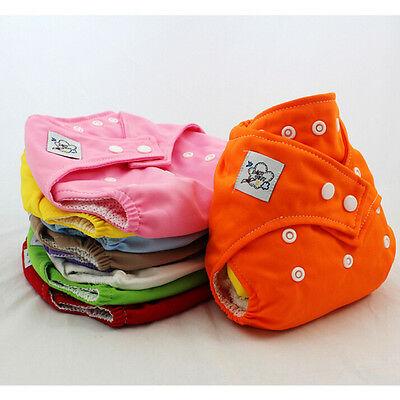 Reusable Newborn Baby Nappy Cloth Diaper Soft Cover Washable Adjustable