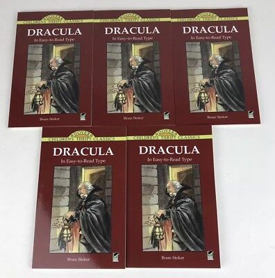 Lot Of 5 Childrens Dover Thrift Classics DRACULA In Easy Read Bram Stoker Book