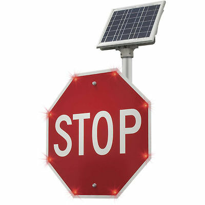 """Tapco BlinkerStop Flashing LED STOP Sign R1-1, 30""""W, Solar, Lot of 1"""