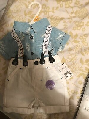 Baby Boy Outfit Up To 1 Month From Nutmeg Bnwt