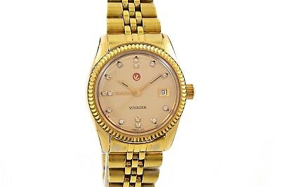 Vintage Rado Voyager Gold Plated Automatic Ladies Petite Watch 1362