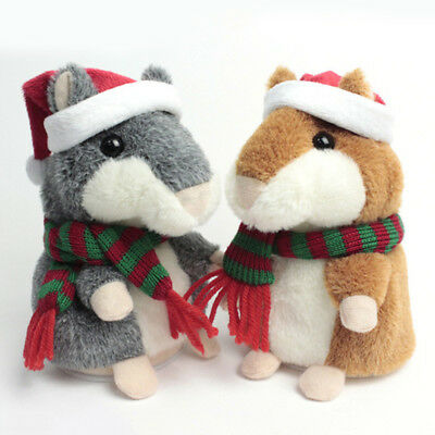 Cheeky Talking Hamster Christmas Gift Speak Sound Record Hamster Educational Toy