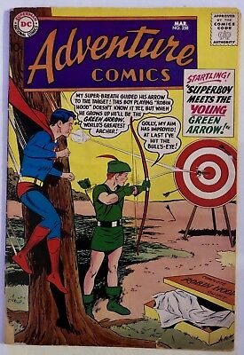 Adventure Comics #258 DC 1959 - Superboy/Green Arrow x-over,Aquaman, Green Arrow