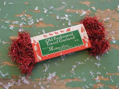 BETHANY LOWE Old-Fashioned ~RED TINSEL GARLAND~  9 FEET ~ NWT!