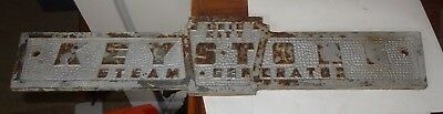 Vintage Keystone Steam Generator Cast Iron / Steel Heavy Sign Pennsylvania Erie