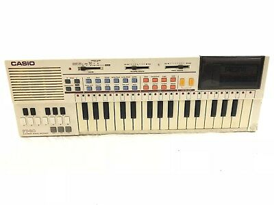 Vintage Casio PT-80 Pt80 Keyboard Synth 80s W / Rom WORKS