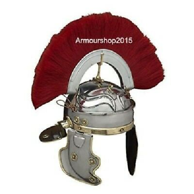 Roman Centurion Helmet Armour Red Crest Plume fantastic unique item.