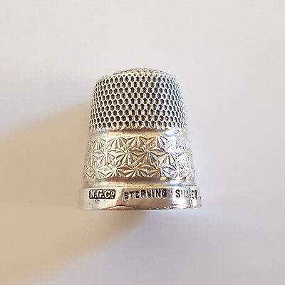 ANTIQUE SILVER THIMBLE NORTHERN GOLDSMITH Co 1925-1929 (ART DECO)