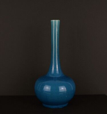 A Perfect Chinese Turquoise Monochrome Vase