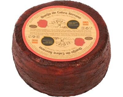 1 Whole Cured Serrano GOAT CHEESE barred with Pepper and Wine / FREE SHIPPING