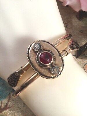 Antique Victorian Etruscan Revival Jewellery Gold Bangle Vintage Dress Jewelry