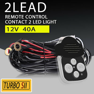 Remote control 12V Wiring Harness Kit Switch Relay 500W for Led Light bar 40Amp