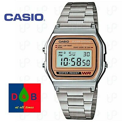 CASIO CLASSIC Retro A158WEA-9CF MENS Casual Classic Steel Bracelet WATCH WOW