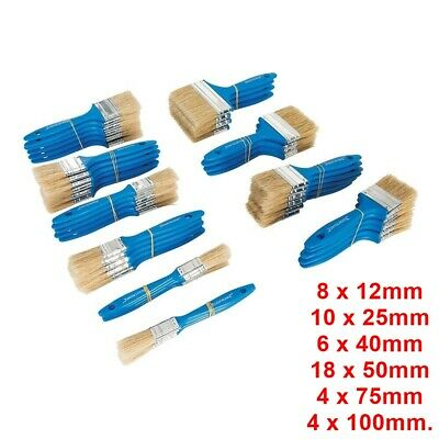 Silverline Tradesmans Disposable Utility Brushes 50 Piece Set Paint Brushes BLUE