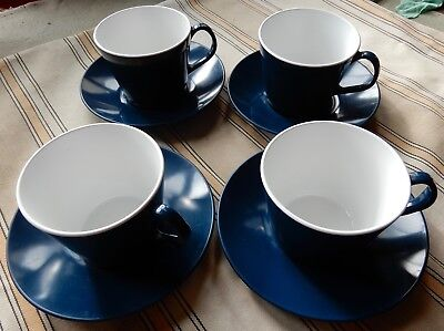 Retro Collectable Set of Plastic Europleasure International 4 Cups And 4 Saucers