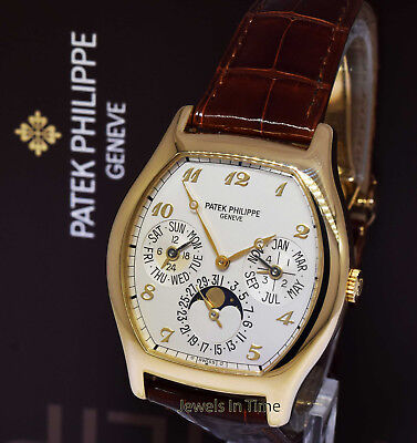Patek Philippe 5040 Complications 18k Yellow Gold Mens Watch Box/Papers 5040J