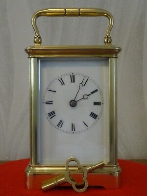Hollingue/Drocourt antique striking carriage clock - c. 1865 - restored 09/18