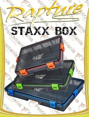 scatola porta artificiali Rapture STAXX con chiusura ermetica soft lure friendly