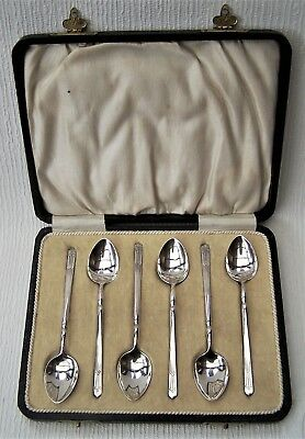 Cased Sterling Silver Coffee / Tea Spoons William Adams Birmingham 1925