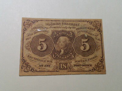 US Fractional Currency 1862  5 cents   BCF3
