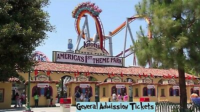 Knotts Berry Farm - General Admission Tickets - FREE SHIPPING