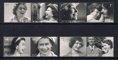 GB 2006 QUEENS 80th BIRTHDAY MNH SET OF 8 STAMPS