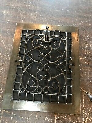 D 33 antique swirly design heating grate wall mount vertical 10.75 x 13.75
