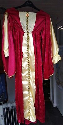 Girl's Tudor costume with headpiece and belt, 134-146cm