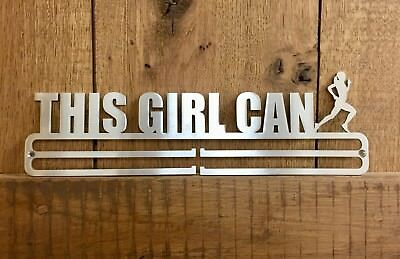 Medal Hanger Display 'This Girl Can Run' Stainless Steel 2.0