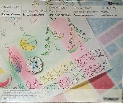 New In Pkg Creative Memories DoneWithOne Vellum Holiday Glimmer Printed Die Cuts