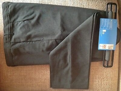 """Two Brand New Pairs Boys Grey School Trousers Marks & Spencer Size 34"""" Waist"""