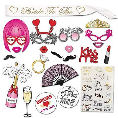 Bachelorette Party Supplies Kit - Bridal Shower Supplies | Bride to be Sash, 20