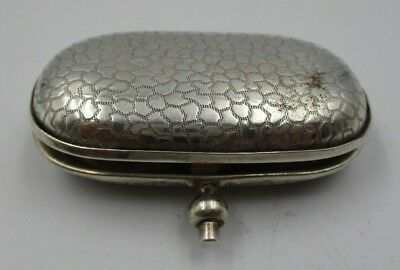 Antique Edwardian Silver Plated Sovereign Case