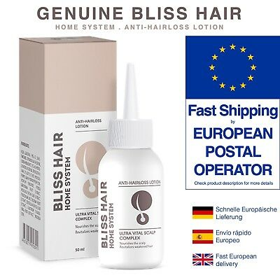 BLISS HAIR HOME SYSTEM ANTI-HAIRLOSS LOTION. 1-20 tubes. FAST SHIPPING OPTION !