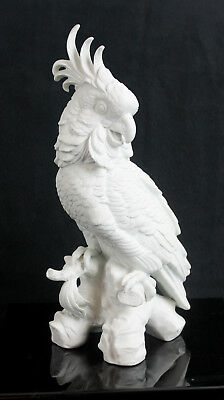 Porcelain White  Cockatoo,Figurine  Height 12 inches