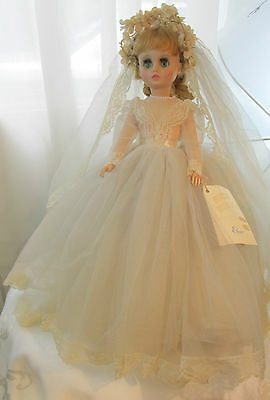 Vintage Madame Alexander Doll Elise In A Tagged Wedding Gown