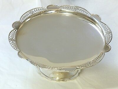 Superb Heavy George V Sterling Silver Cake Stand / Dish