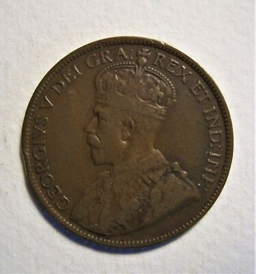 1919 c NEWFOUNDLAND LARGE CENT  NICE  - COLLECTOR COIN -