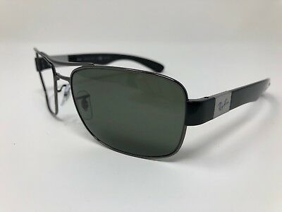 cc531dec24 RAY BAN RB 3522 Sunglasses 004 9A Gunmetal   Green Polarized Lenses ...
