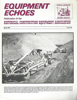Equipment Echoes, 4 Issues, 1993, Michigan front-end loader, back hoe, CAT