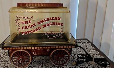 VIntage Sunbeam The Great American Popcorn Machine Popcorn Maker Cart Wagon