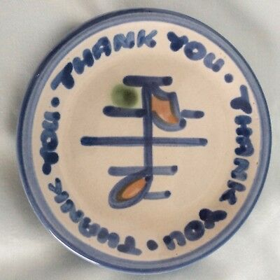 "M.A. Hadley 4"" Signed Small Thank You Very Much Dish"