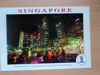 Singapore Postcard - Clarke Quay, photograph by Ken Donavan, postmarked 2002
