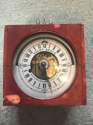 Vintage American Pink Protection Company Electric Timer And Steam Punk