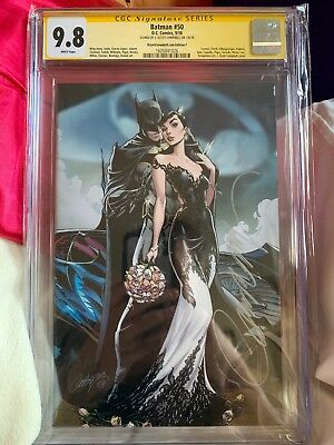 Batman 50 SDCC Exclusive Campbell Variant Signed CGC SS 9.8 Catwoman Wedding