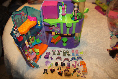Grand Lot Polly Pocket Fashionmongolfière Magasin Garage 6 Polly