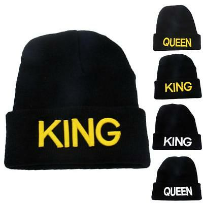 fee67b3f9f9 ... Hats for Men  King Queen Couple Beanie Knit Cap Hat Winter Embroidered  Hip Hop Hat Cap Hot uk availability ...