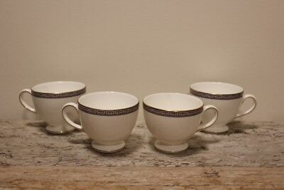 4 - Wedgwood PALATIA Bone China TEACUPS only Made in England