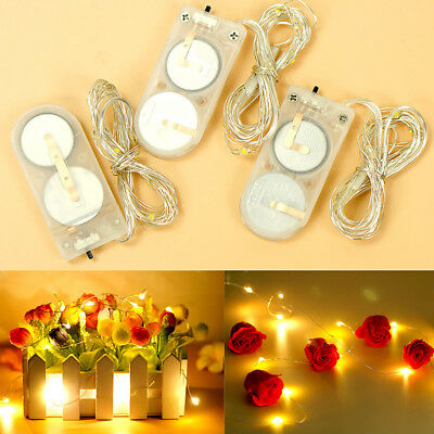 20 LED Battery Operated Christmas Fairy String Lights Wedding Party Decor Lamps