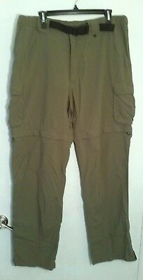 BSA Boy Scouts Olive Convertible Switchback Uniform Pants/Shorts Men's Large 32L